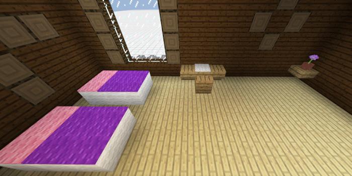 森の洋館「ピンクと紫のベッドルーム」