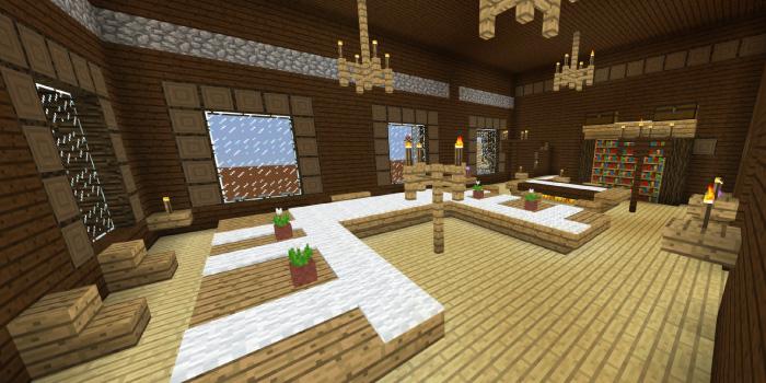 森の洋館の会議室