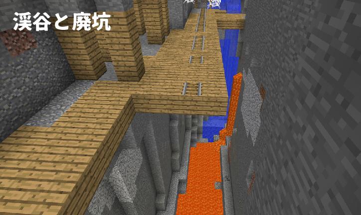 渓谷に出来た廃坑