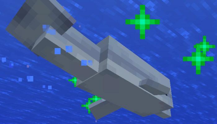 イルカの緑のパーティクル
