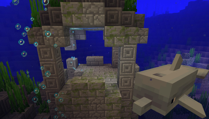 イルカと海底遺跡