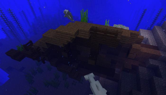 海底に沈む沈没船