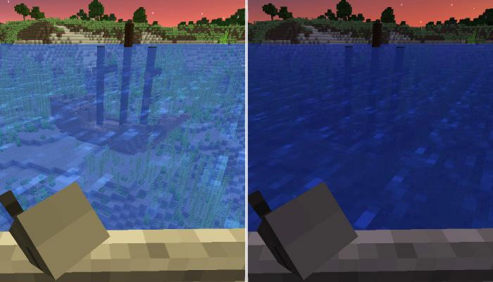 暗視のポーションの可否で変わる水中