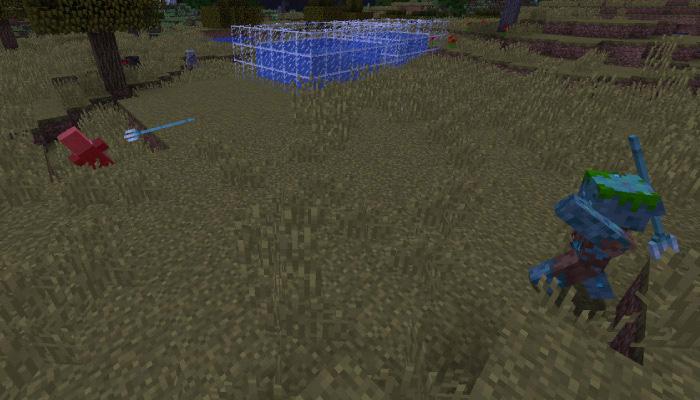 ドラウンドが村人を攻撃