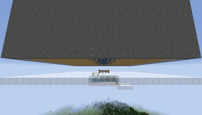 湧き層の下のガラス床