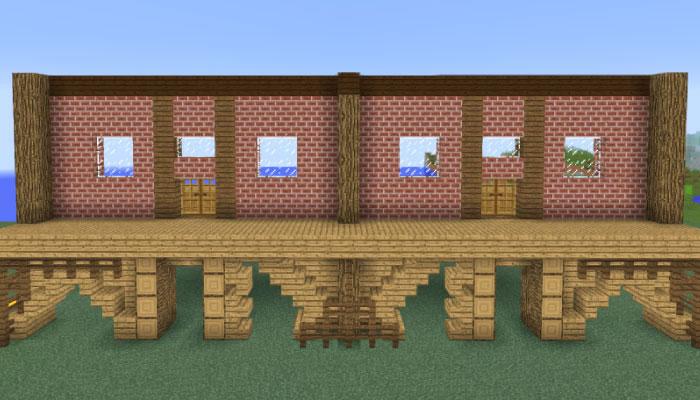 馬主の邸宅の壁作り(正面)