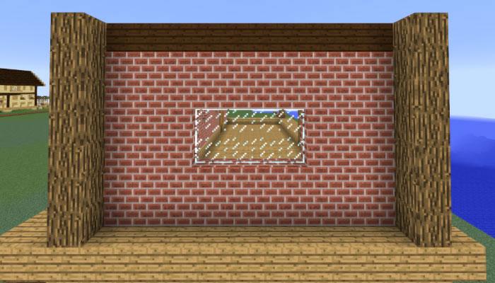 馬主の邸宅の側面の壁を作る