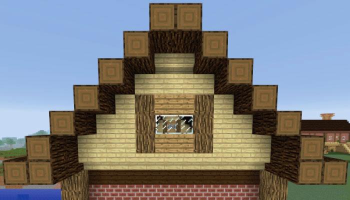 屋根の下の壁を作る
