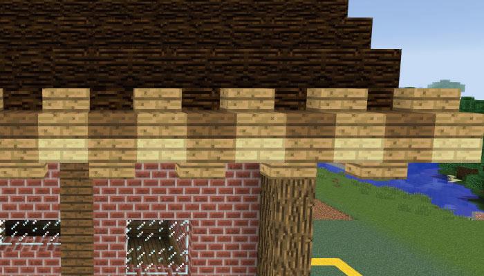 屋根をズームアップ