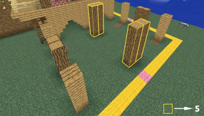 馬小屋の支柱を立てる