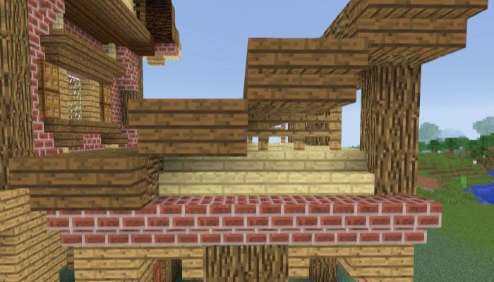馬小屋の屋根の下を作る
