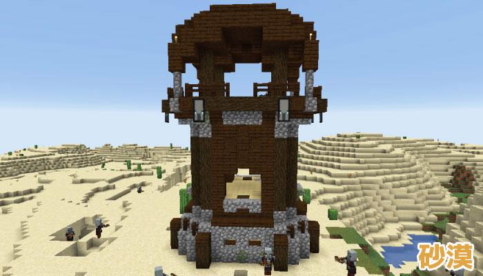 砂漠にある前哨基地