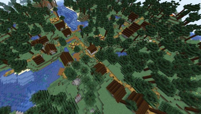 新しいタイガの村の規模
