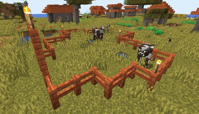 新しいサバンナの村の家畜