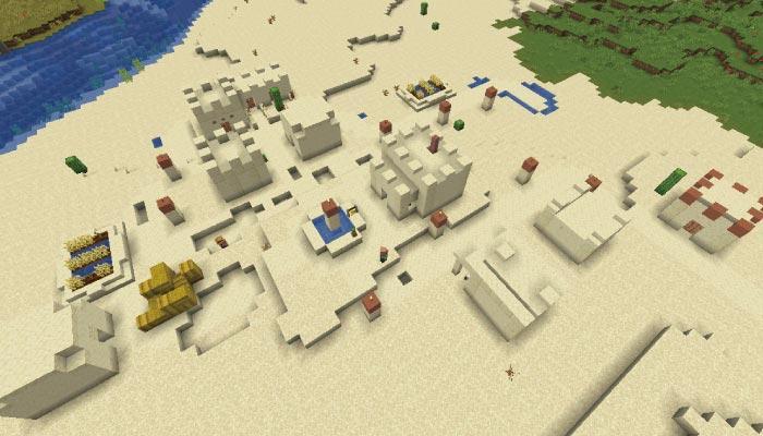 砂漠の村の規模