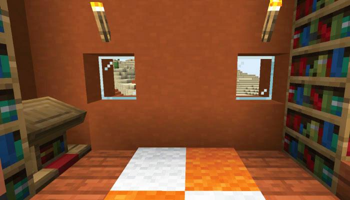 新しいサバンナの村の図書館の内装