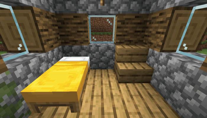 新しい村の小さなお家の内装