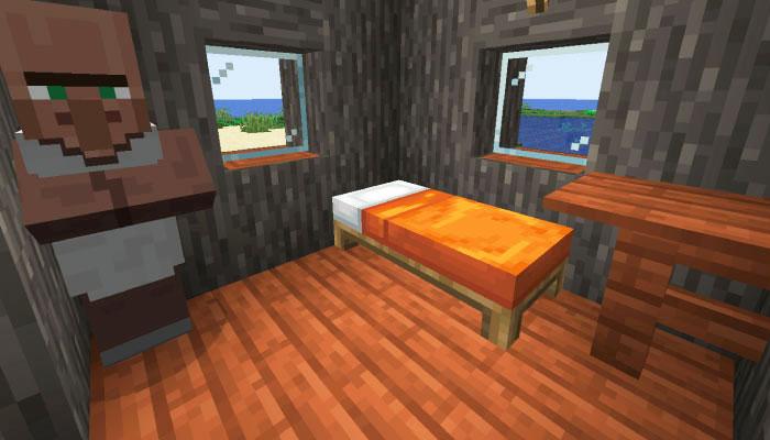 新しいサバンナの村の小さな家の内装