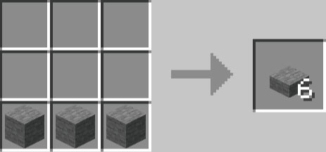 石のハーフブロックの作り方