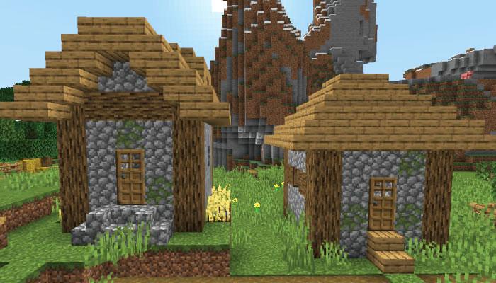 新しい村の小さな家