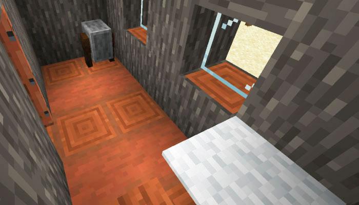 新しいサバンナの村の鍛冶屋の家の内装