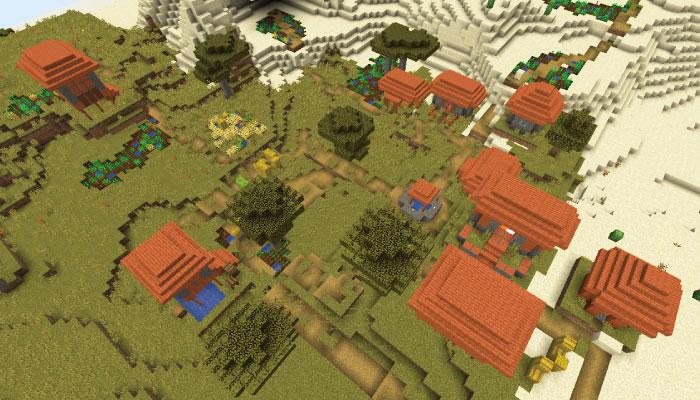 サバンナの中規模の村