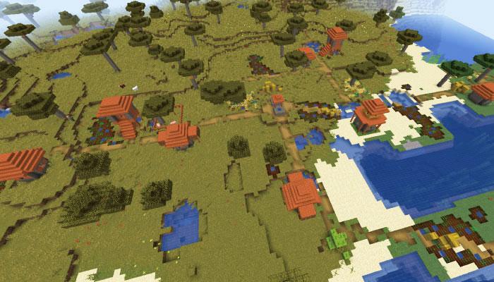 サバンナの村の規模