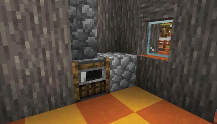 新しいサバンナの村の中サイズの家の内装