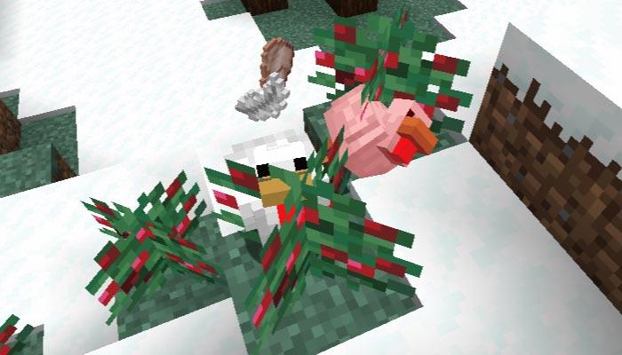 スイートベリーにトゲで倒れる鶏