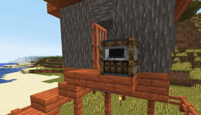 新しいサバンナの村の肉屋のお家の外