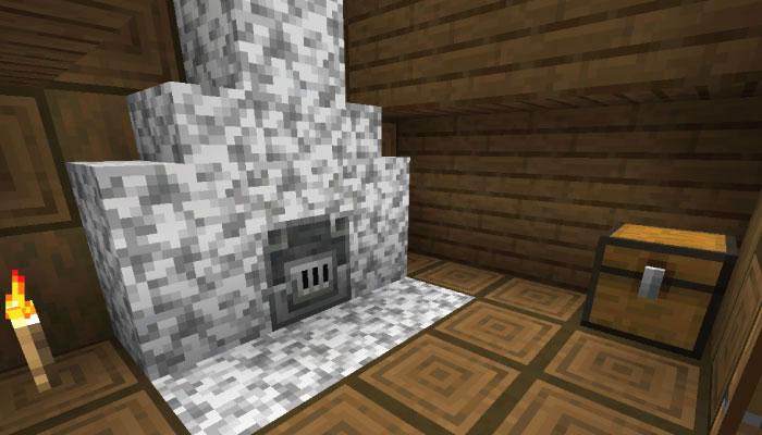 雪原の村の防具屋の内装