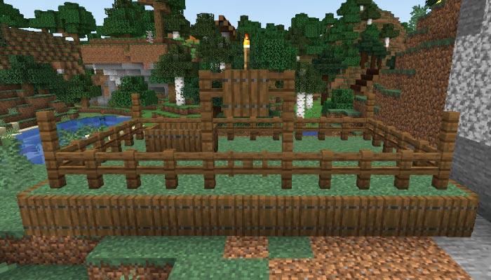 新しいタイガの村の家畜小屋