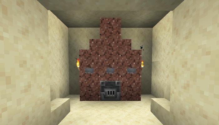 砂漠の村の防具屋の内装