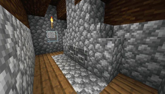 新しいタイガの村の防具鍛冶屋の家の内装