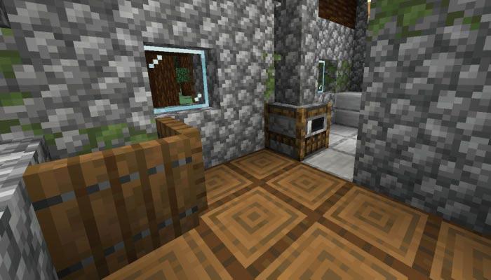 新しいタイガの村の肉屋の内装