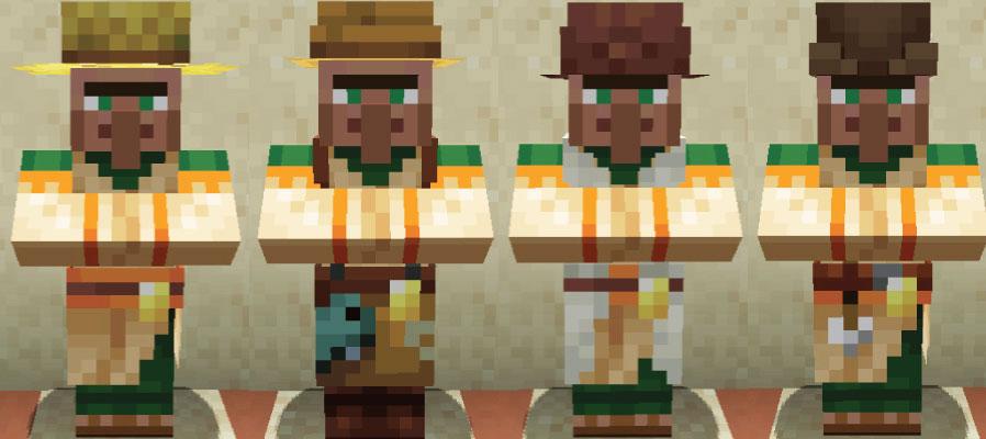 砂漠の村人農民と釣り人と羊飼いと矢師