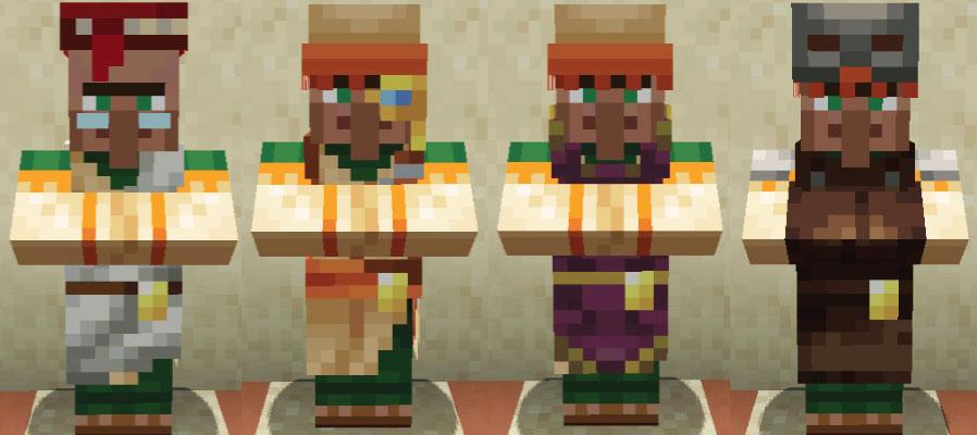 砂漠の村人司書と製図家と聖職者と防具鍛冶