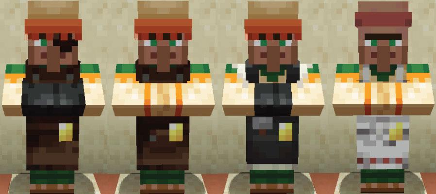 砂漠の村人武器鍛冶と道具鍛冶と石工と肉屋