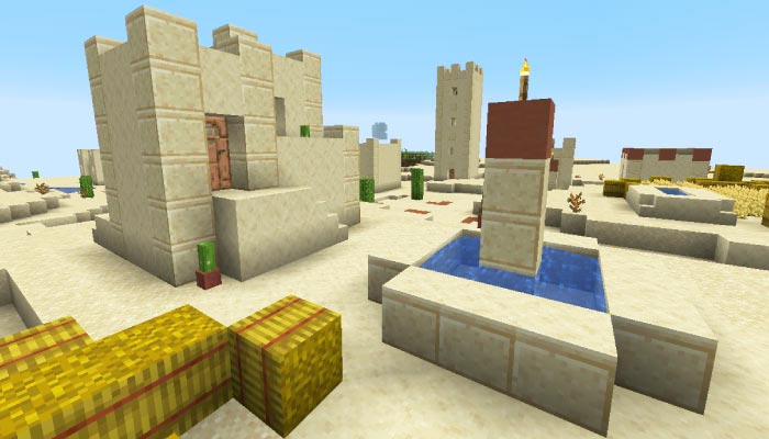 砂漠の村の新ビジュアル