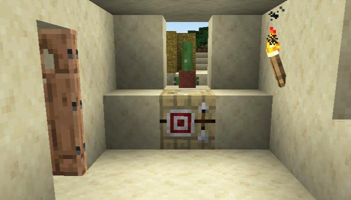 砂漠の村の矢師の家の内装