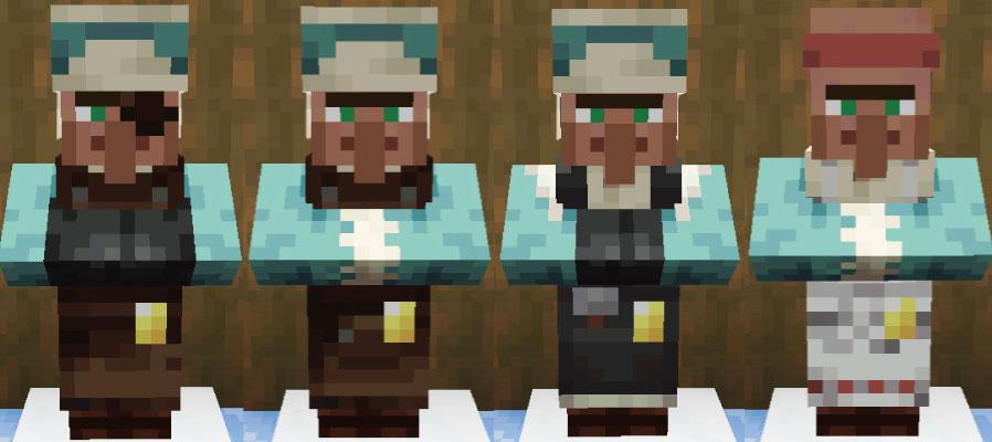 雪原の村人武器鍛冶と道具鍛冶と石工と肉屋