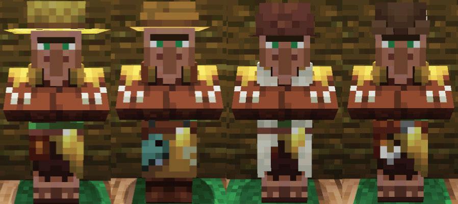ジャングルの村人農民と釣り人と羊飼いと矢師