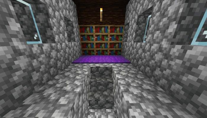 新しいタイガの村の図書館の内装