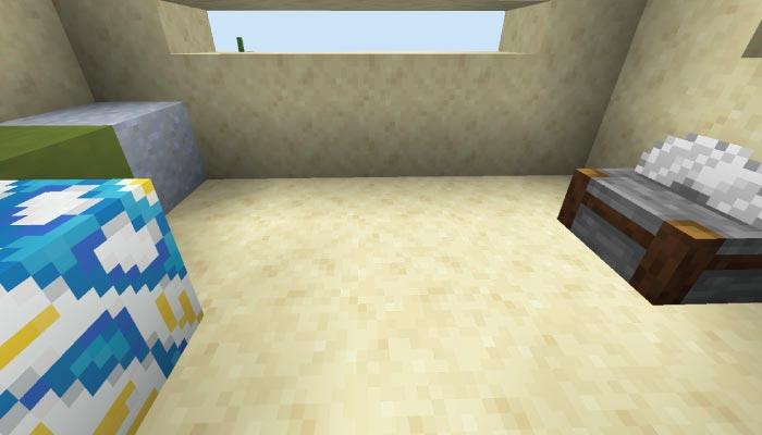 砂漠の村の石工の家の内装