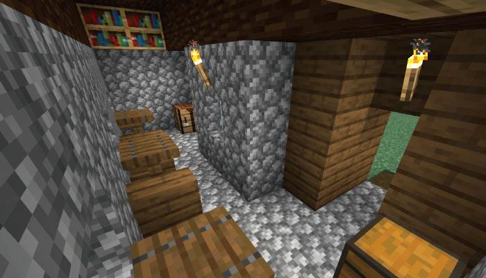 新しいタイガの村の中サイズの家の内装