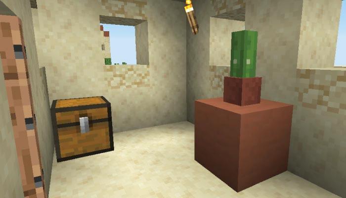砂漠の村の中サイズの家の内装