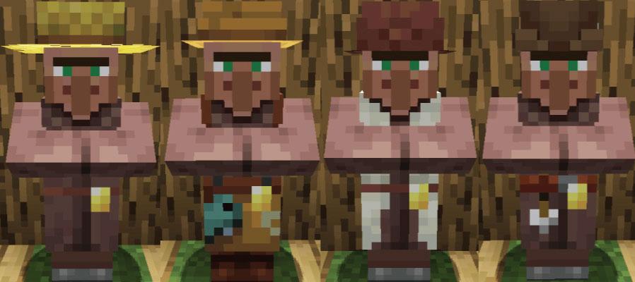 平原の村人農民と釣り人と羊飼いと矢師