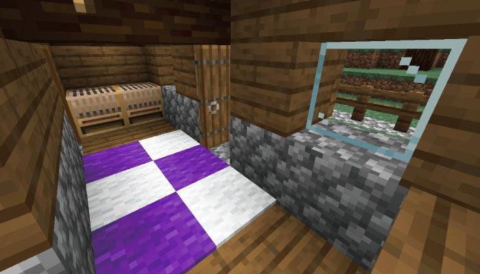 新しいタイガの村の羊飼いの家の内装