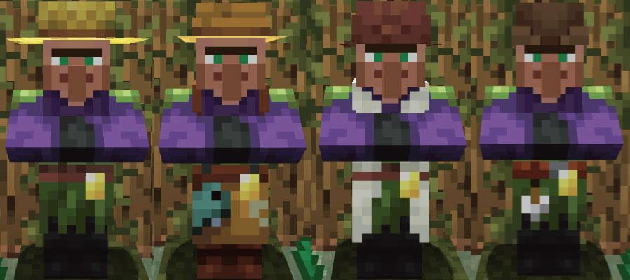 湿地の村人農民と釣り人と羊飼いと矢師