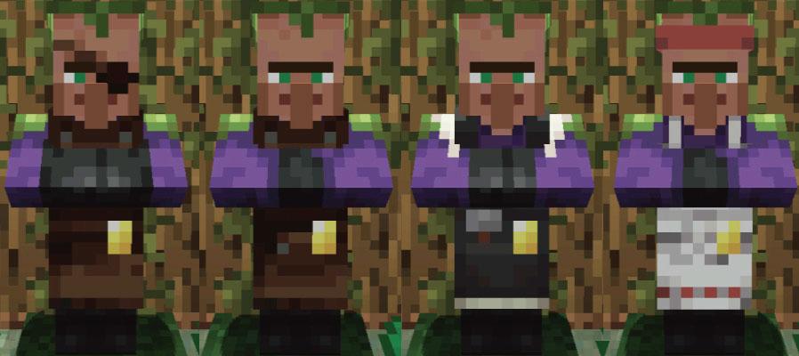 ジャングルの村人武器鍛冶と道具鍛冶と石工と肉屋